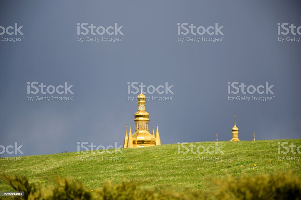 The golden dome stock photo