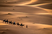 Erg Chebbi is one of Morocco's two Saharan ergs – large seas of dunes formed by wind-blown sand.