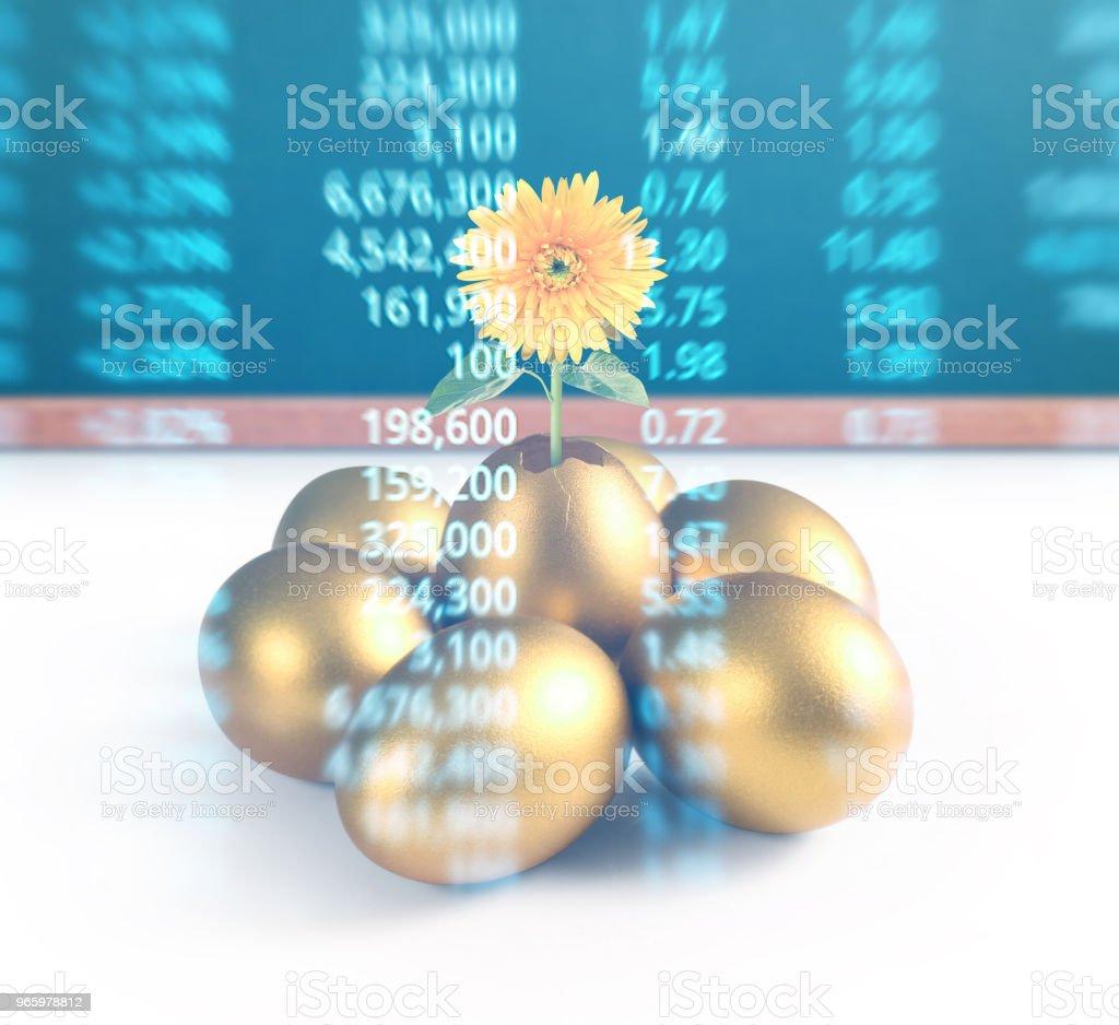 den goldenen Eiern - Lizenzfrei Bankgeschäft Stock-Foto