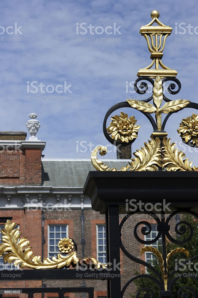 The Golden Gate at Kensington Palace royalty-free stock photo