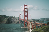 Famous landmark in San Francisco, US - The Golden Bridge