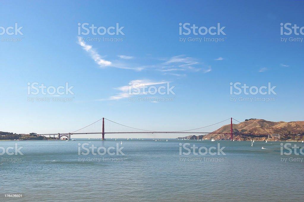 The Golden Gate Bridge in San Francisco royalty-free stock photo