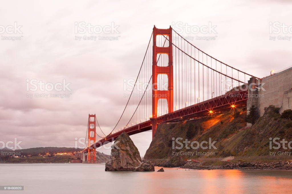 The Golden Gate Bridge in San Francisco stock photo