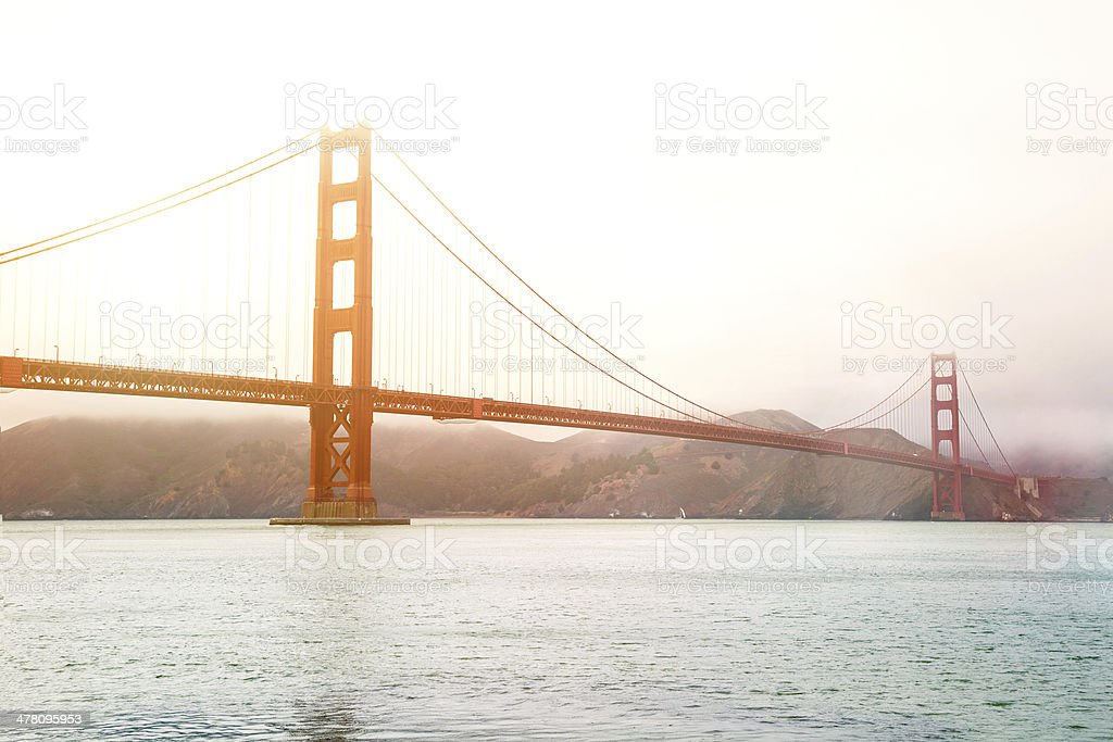 The Golden Gate Bridge royalty-free stock photo