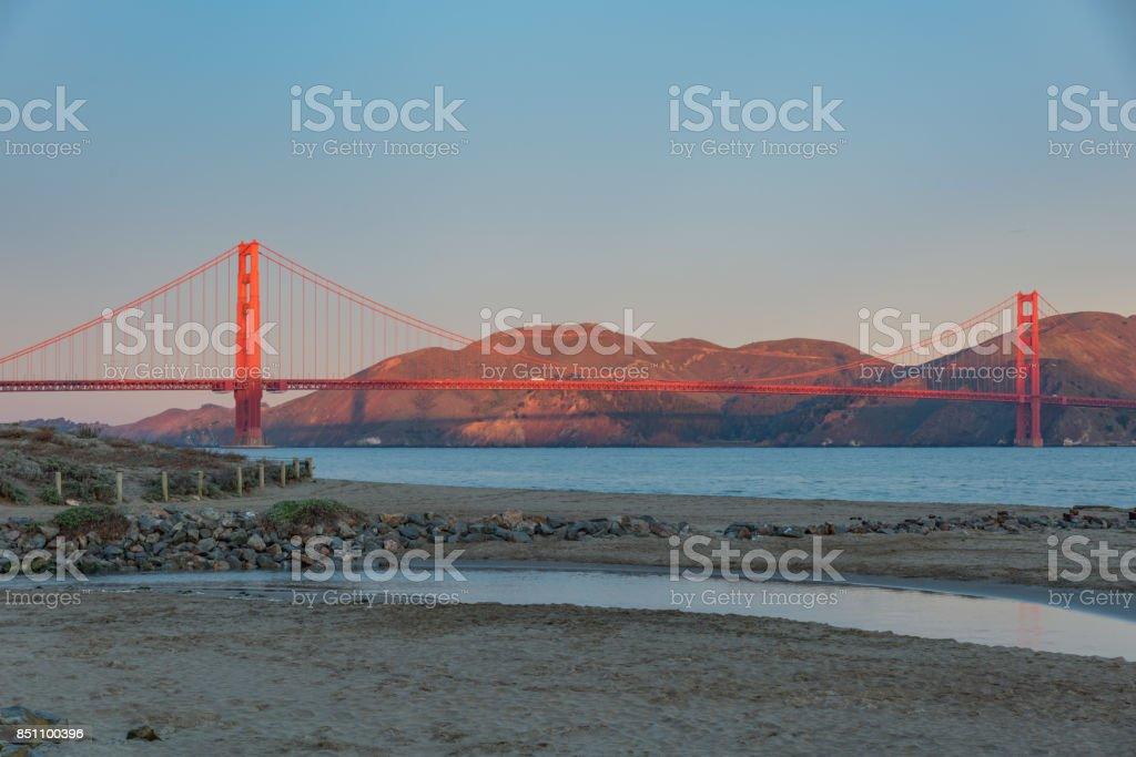 The Golden Gate Bridge Shadow stock photo