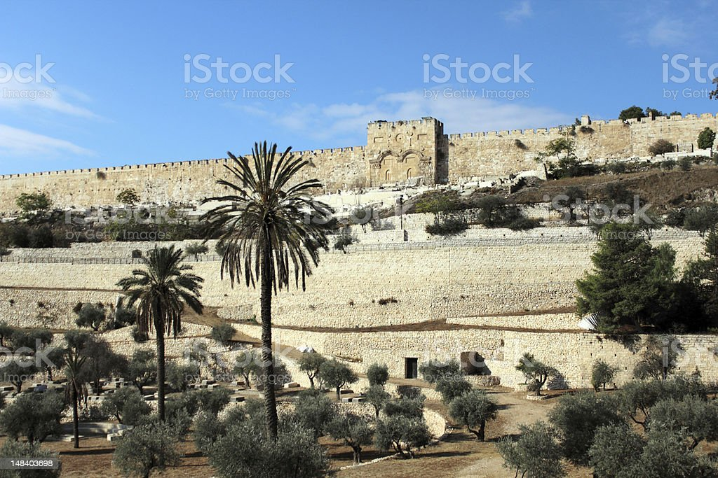 The Golden Gate, Jerusalem stock photo
