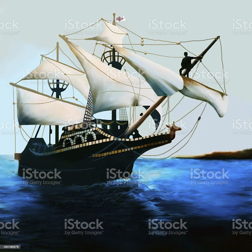 The Golden Hind stock photo