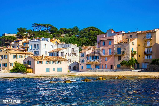 The Golden hour over Saint Tropez, Southern France