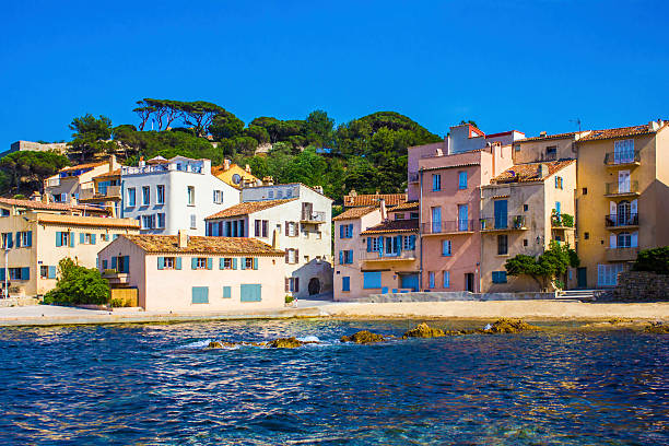 The Golden hour over Saint Tropez, The French Riviera The Golden hour over Saint Tropez, Southern France var stock pictures, royalty-free photos & images