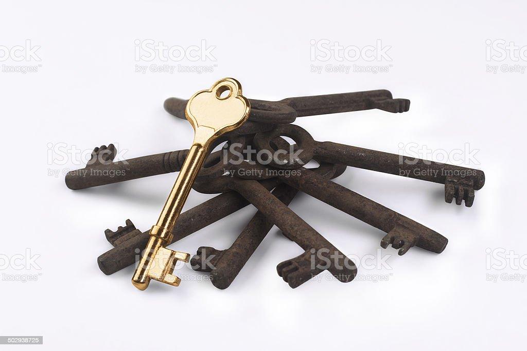 The golden key stock photo
