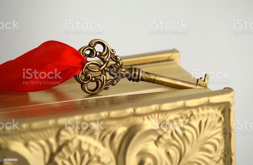 Das Golden Key, wissen 3 Lizenzfreies stock-foto