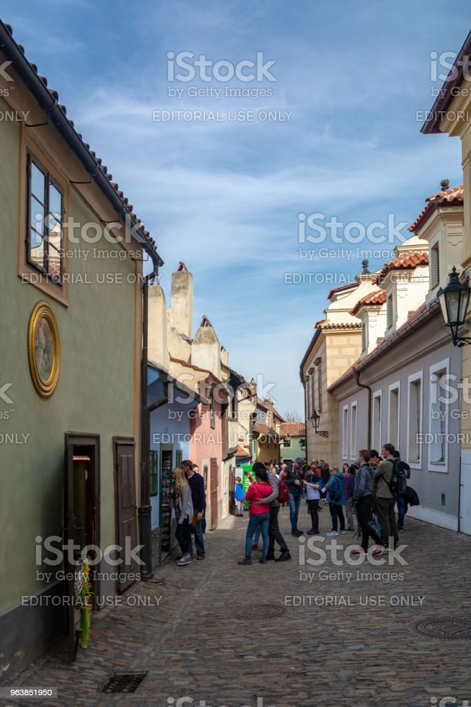 The golden lane in Prague - Royalty-free Architecture Stock Photo