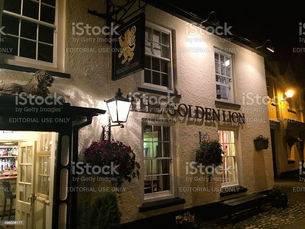 The Golden Lion, Magor stock photo