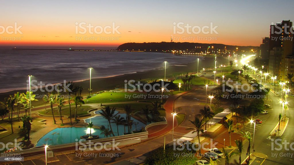 The Golden Mile, Durban stock photo