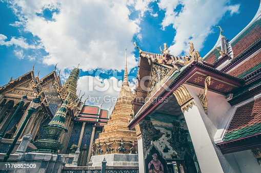 The Golden Ornaments Of The Grand Palace In Bangkok, Thailand