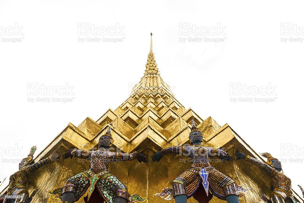 골든 파고다 및 야크 황후상 royalty-free 스톡 사진