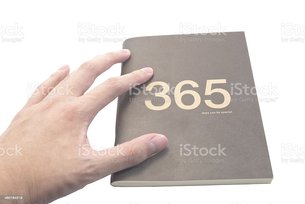The golden phrase '365 days can be special' stock photo