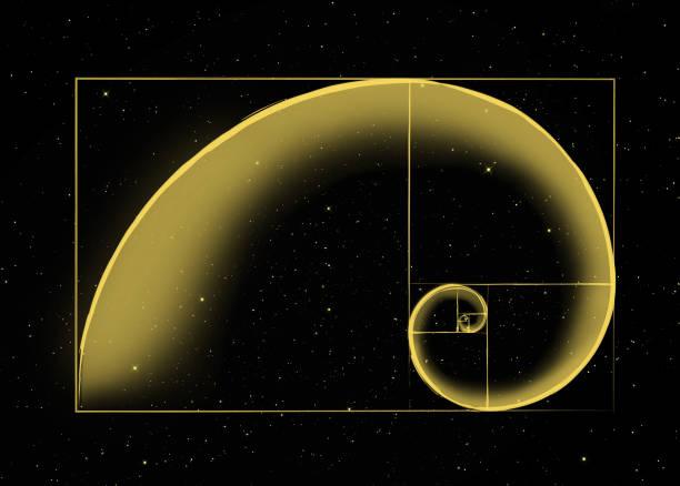 金色螺旋 - 黃金比例 個照片及圖片檔