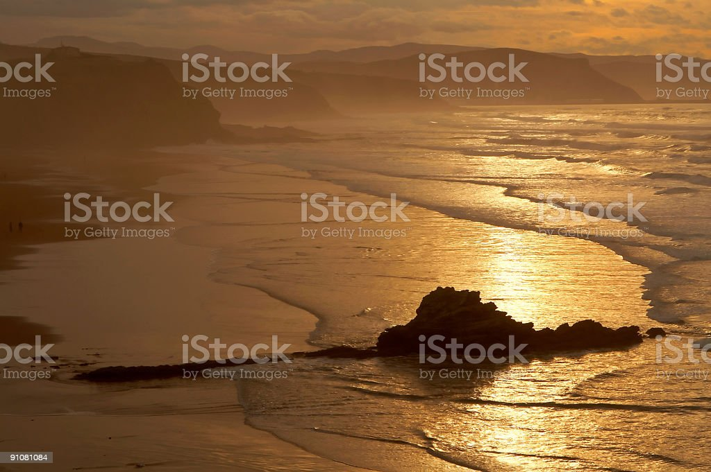 The golden sunrise royalty-free stock photo