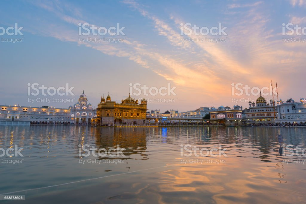 The Golden Temple at Amritsar, Punjab, India stock photo