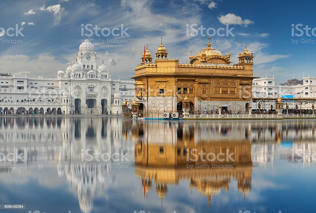 The Golden Temple, located in Amritsar, Punjab, India. stock photo