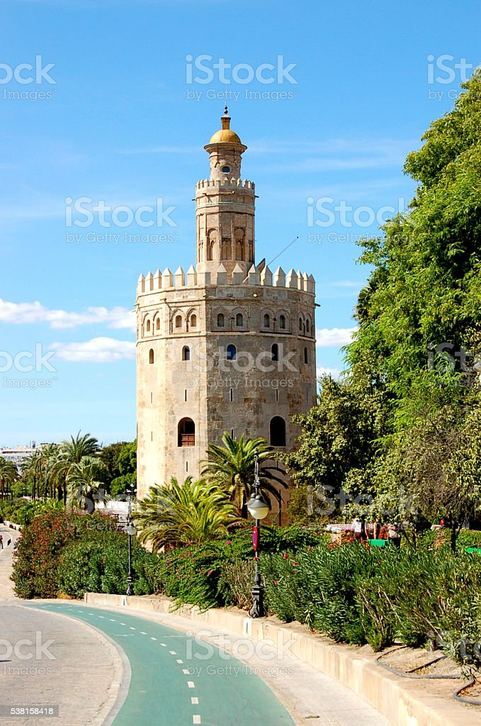 The Golden Tower stock photo