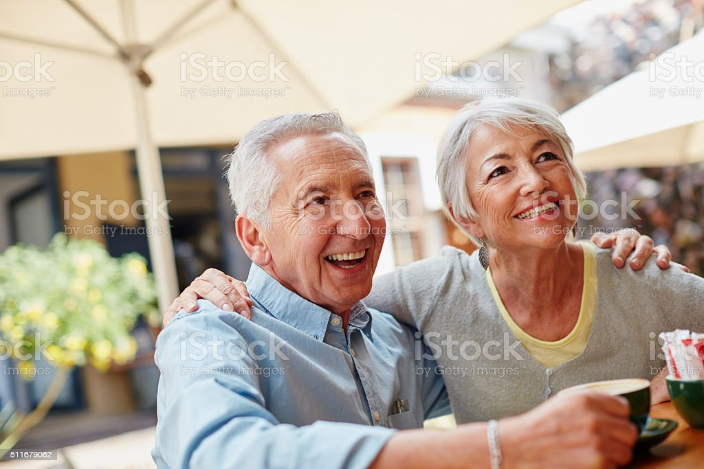 The golden years are going great stock photo