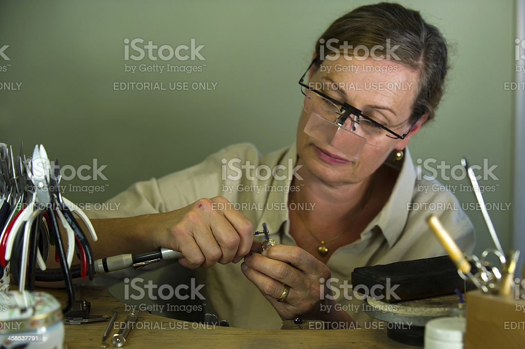 The goldsmith at work royalty-free stock photo