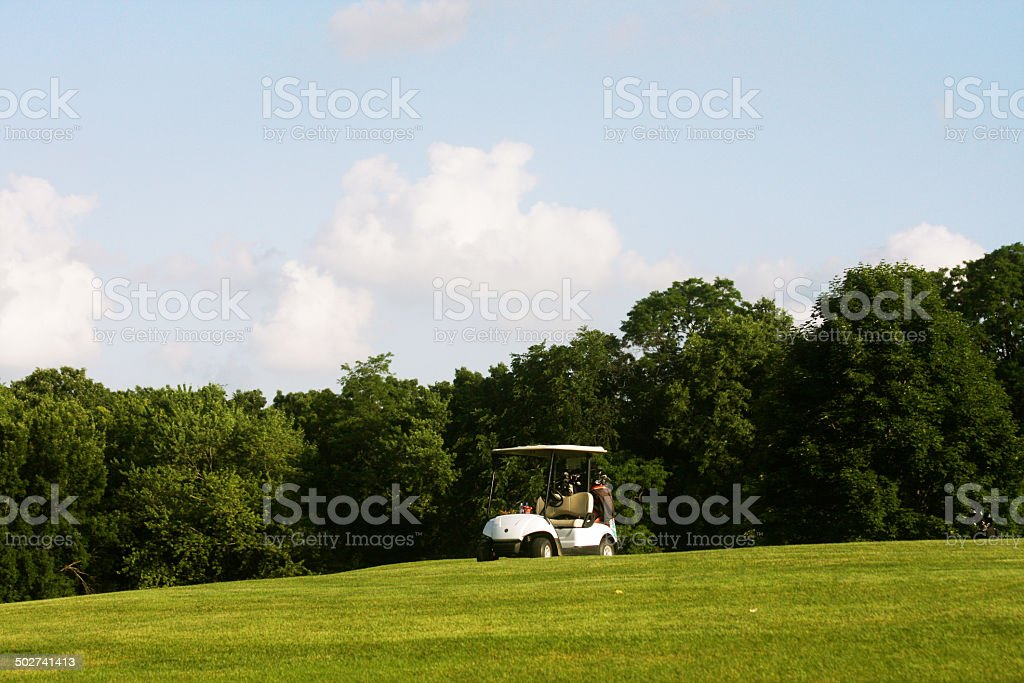 The golf cart stock photo