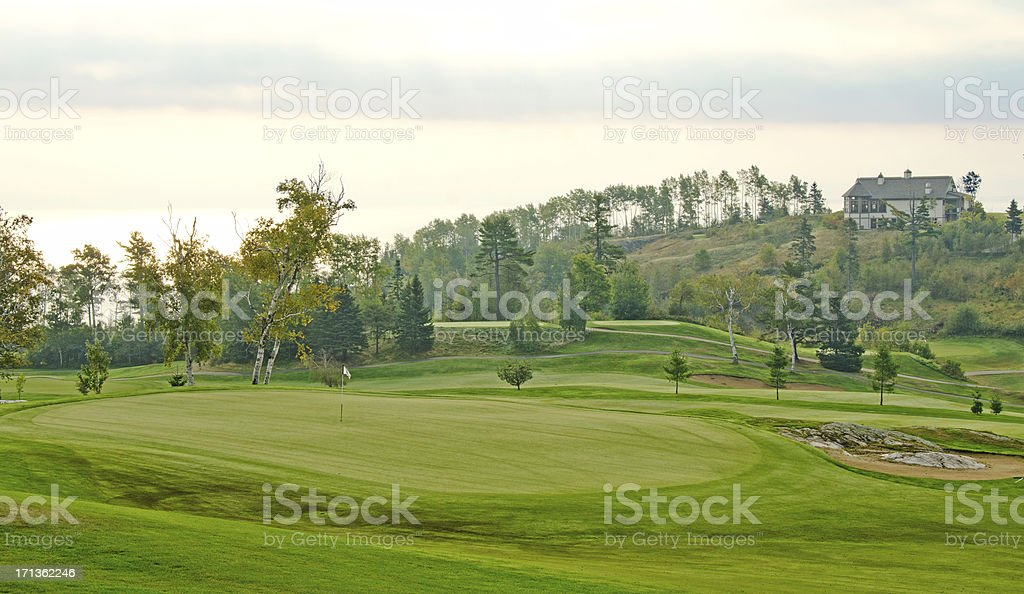 The Golf Course in of , Quebec royalty-free stock photo
