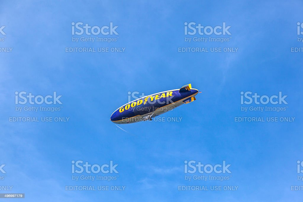 The Good Year blimp Zeppelin, Spirit of Goodyear stock photo