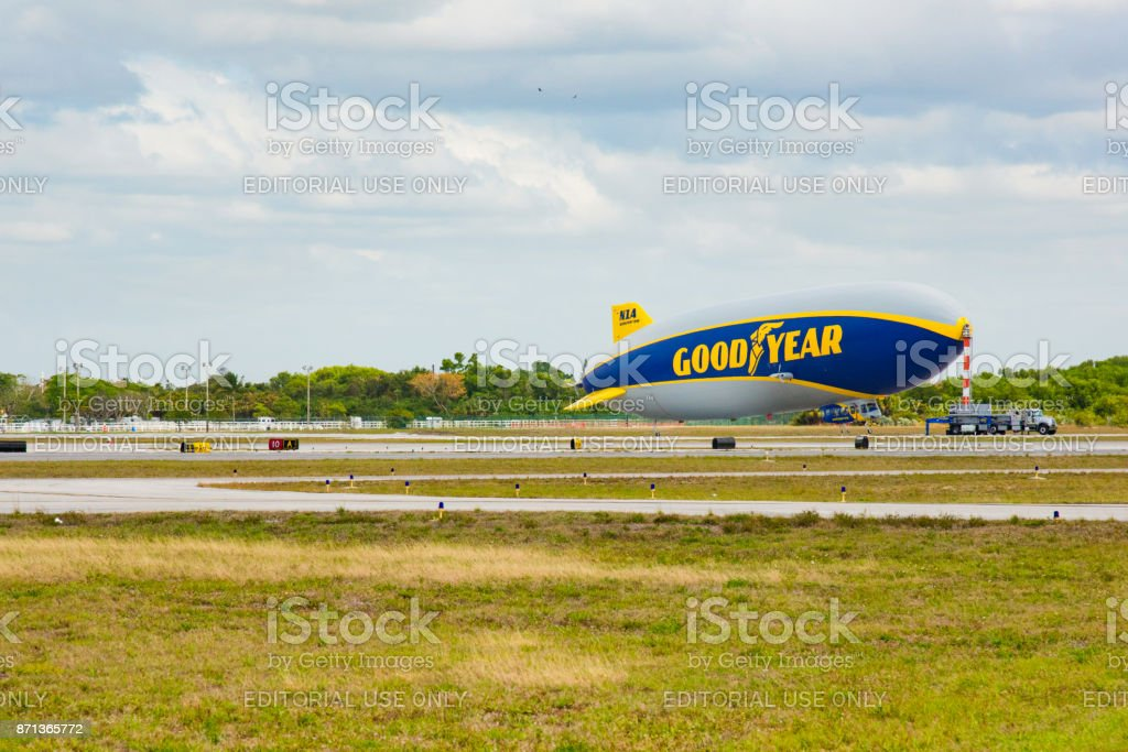 The Goodyear Blimp stock photo