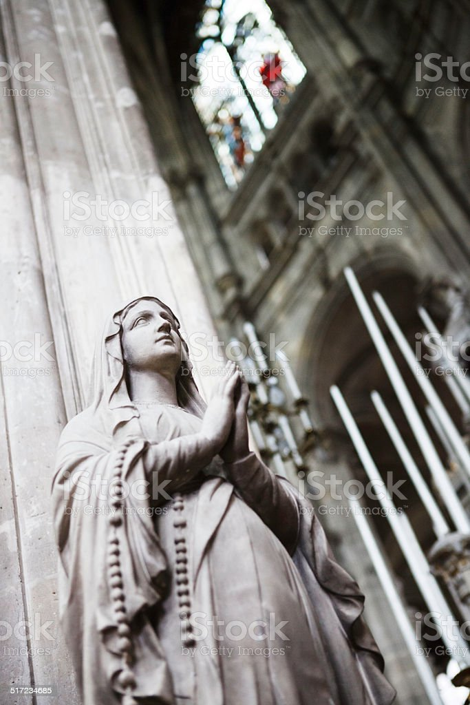 The gothic catolic Church of St Eustace stock photo