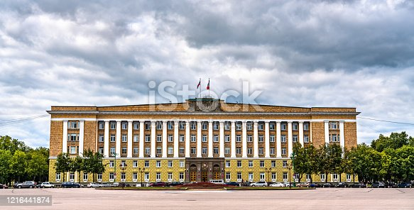 istock The Government of the Novgorod Region in Veliky Novgorod, Russia 1216441874