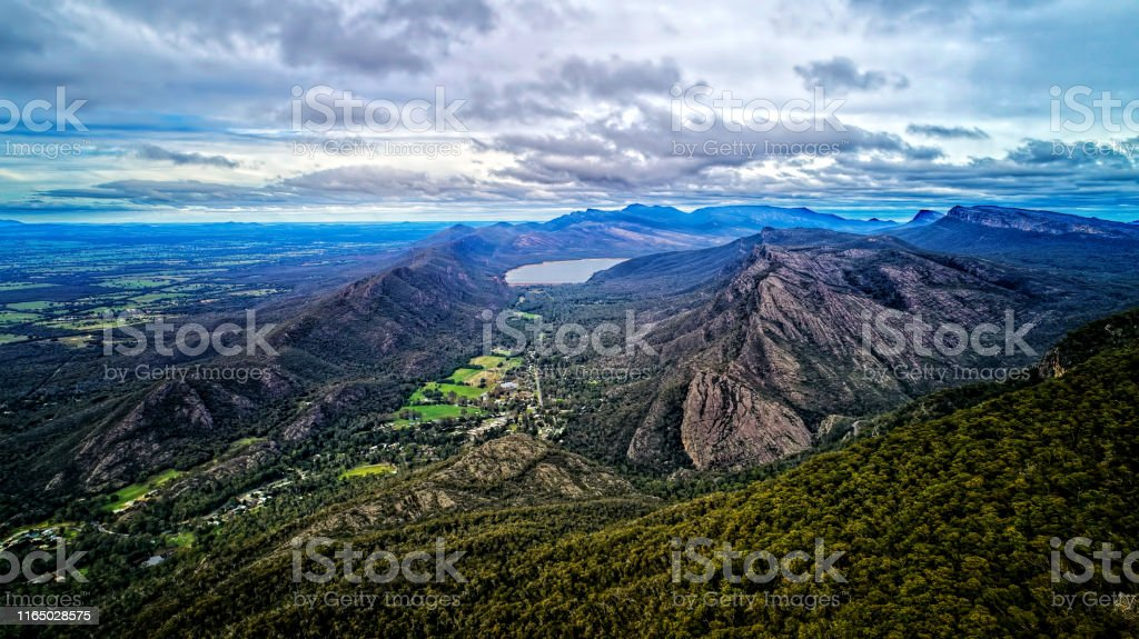 The Grampians Aerial - Royalty-free Aerial View Stock Photo