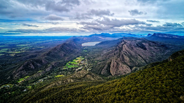 The Grampians Aerial stock photo