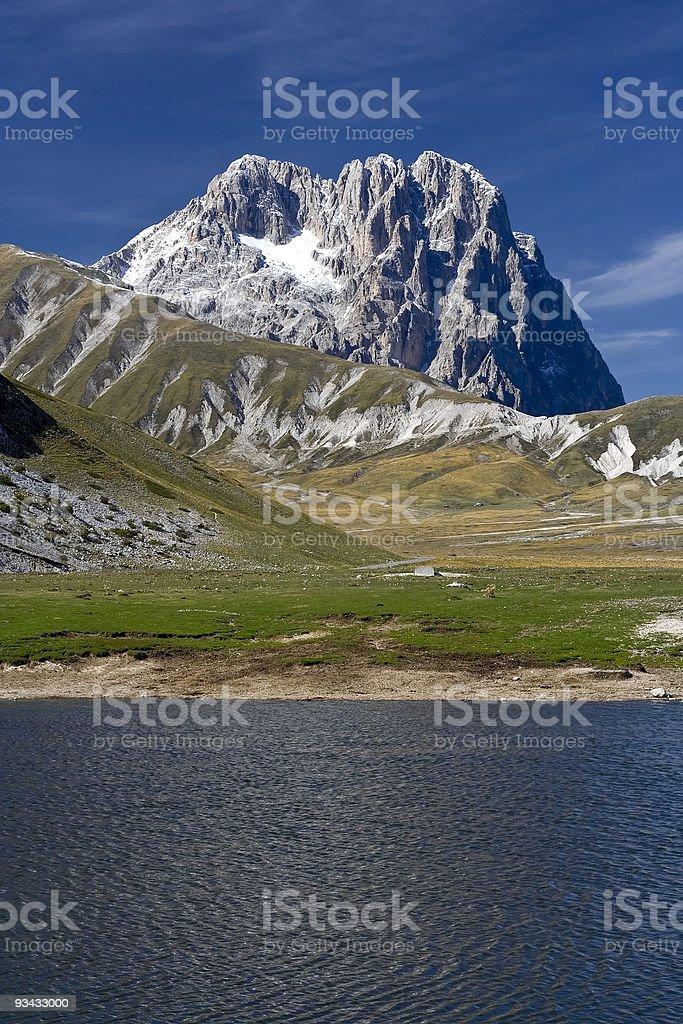 The Gran Sasso, Apennines mountain range, in Abruzzo, Italy stock photo