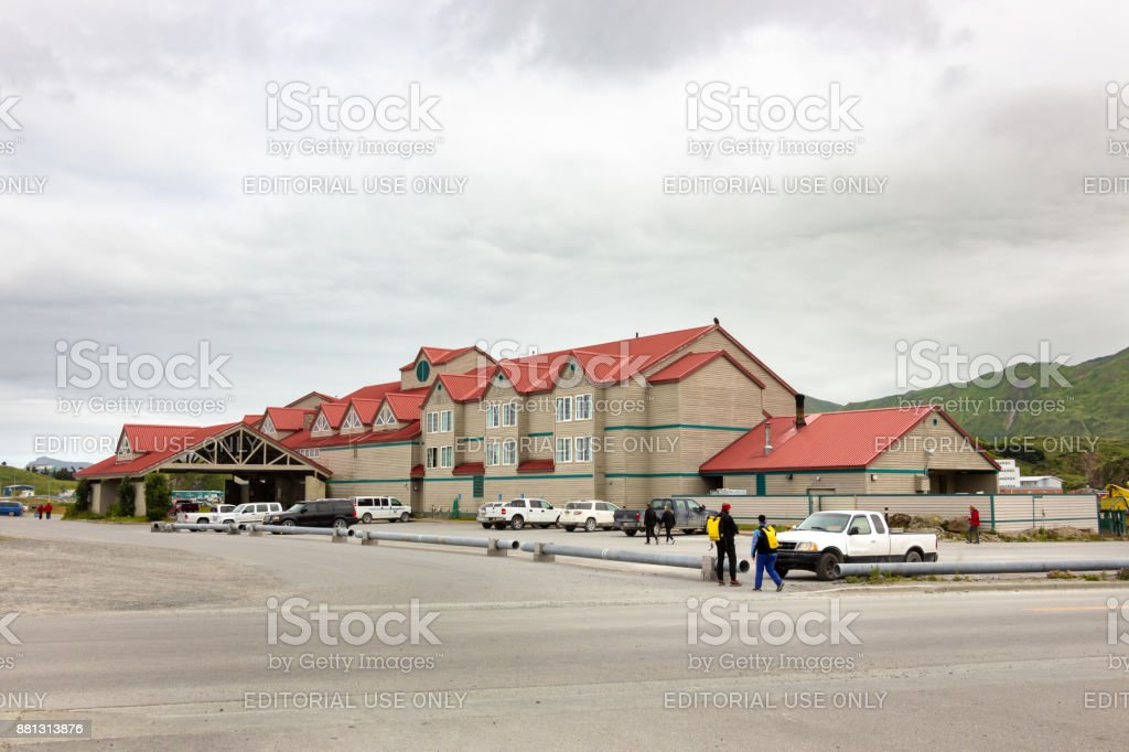 The Grand Aleutian Hotel stock photo