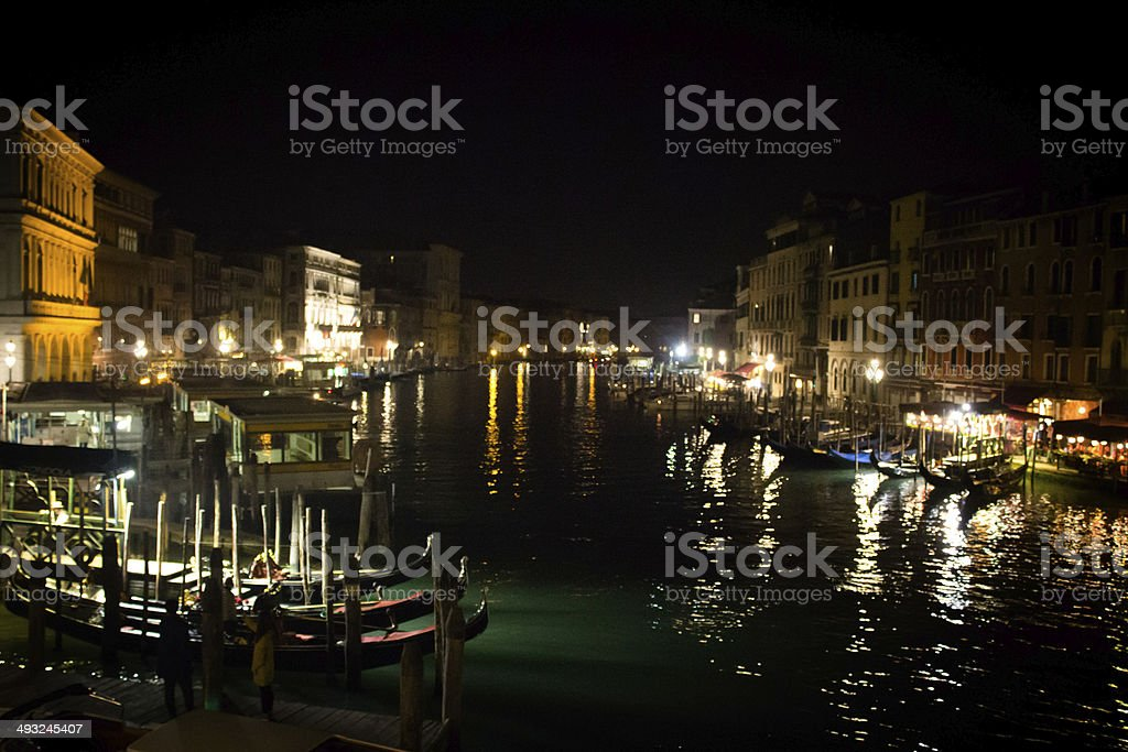 The Grand Canal at Night royalty-free stock photo
