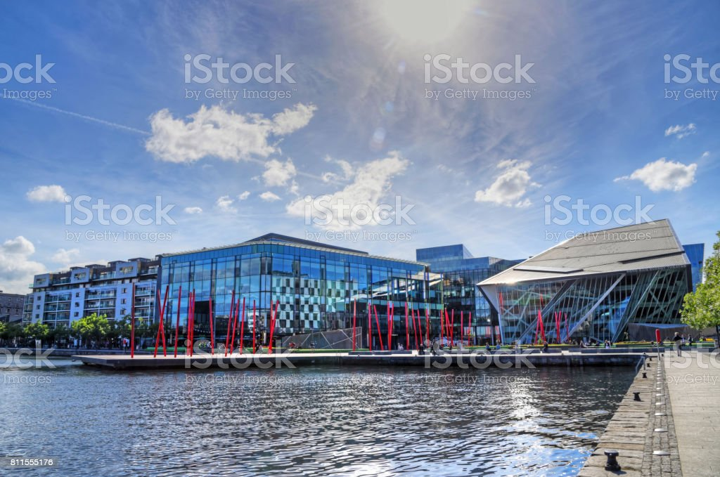 The Grand Canal Docks in Dublin, Ireland stock photo