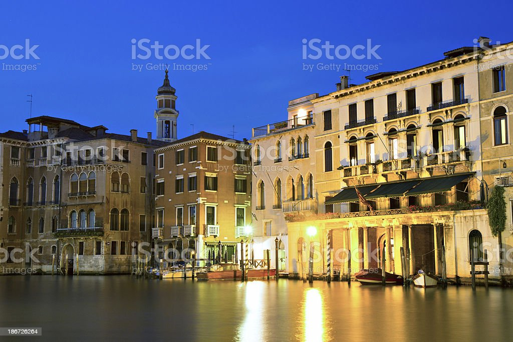 The Grand Canal during twilight royalty-free stock photo