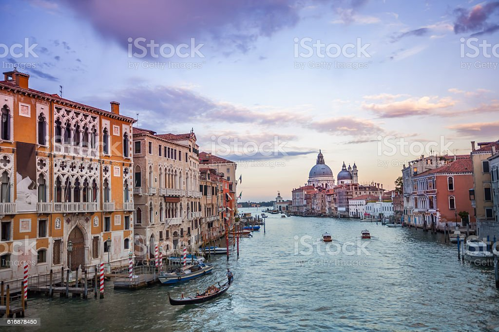 The Grand Canal from Accademia Bridge. stock photo