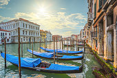 Sunset scene in Venice