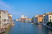 Gondolas  in a summer day in Venice, Italy
