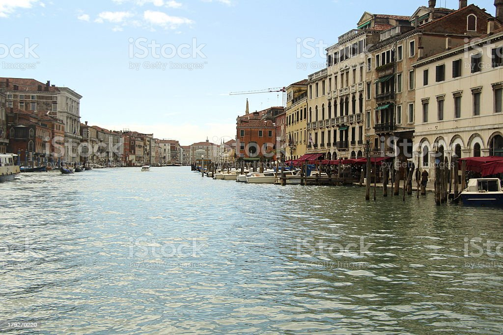 The Grand Canal in Venice royalty-free stock photo
