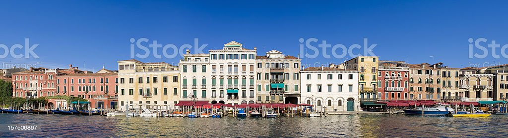 The Grand Canal Riverside Buildings in Venice Italy stock photo