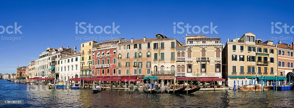 The Grand Canal Riverside Buildings in Venice Italy royalty-free stock photo