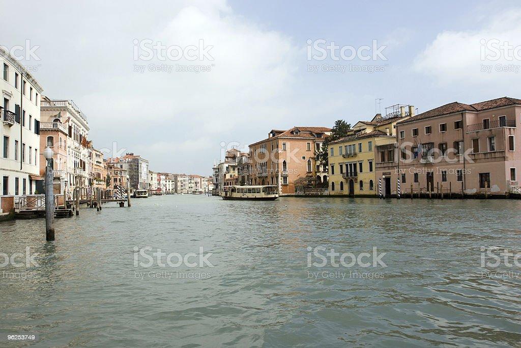 O Grande Canal, Veneza, Itália - Foto de stock de Apartamento royalty-free
