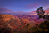 Sunrise at the Grand Canyon National Park