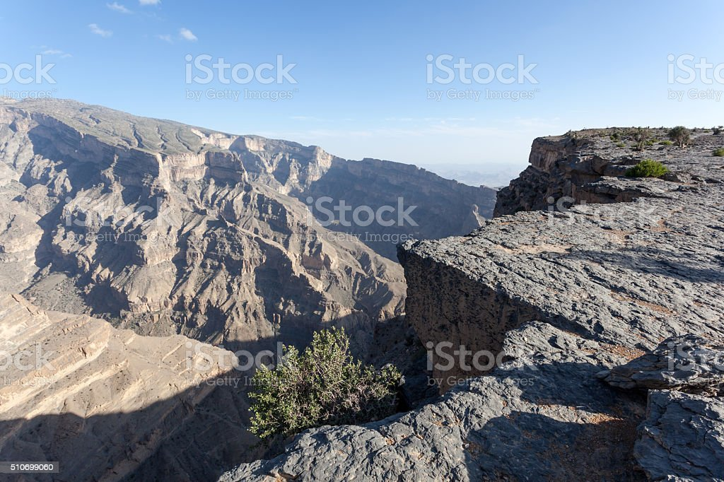 The Grand Canyon in Oman stock photo